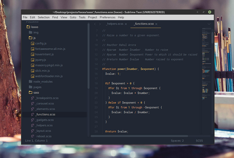 Ayu Theme for Sublime Text