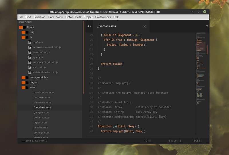 Predawn Theme for Sublime Text