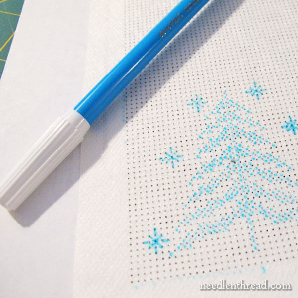 Using Sticky Fabri-Solvy for Counted Cross Stitch on Plain Weave Fabric