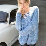 Вяжем объемный свитер – Объемный свитер крупной вязки спицами: схема (женский)