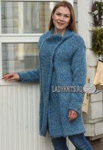 Жакет спицами из толстой пряжи – Вязаные пальто, жакеты, кардиганы со схемами » Страница 9
